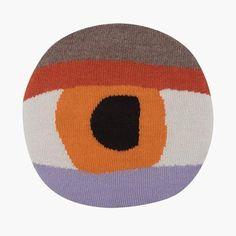 LUCKYBOYSUNDAY Pretty Eye Chair Pillow - Orange | MonkeyMcCoy