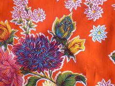 Oilcloth Yardage Orange Mums  Oilcloth Addict by oilclothaddict