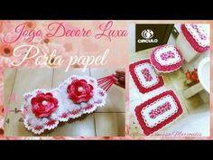 Olá pessoal tudo bem. hoje vamos aprender a fazer este lindo porta papel em Crochê bem fácil e delicada do jogo de banheiro Decore Luxo. Iremos utilizar este...