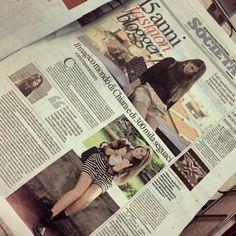 Chiara Nasti su Repubblica indossa la camicia in tartan SoAllure FW 2013 @nastilove @SoAllure