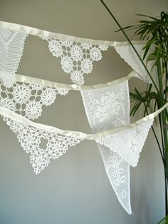 Wedding Garland Decoration  Banner  Photo booth by WHITEStardust, $38.00