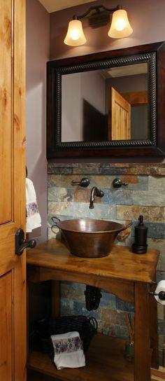 Powder Room Vanity Cabinet by Tilde Design Studio