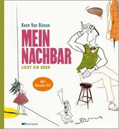 """""""Koen Van Biesen erzählt seine Geschichte auf schräge Art mit skizzenhaften Illustrationen und ungewöhnlichem Text"""", Rezension zu Koen Van Biesen: 'Mein Nachbar liest ein Buch' im TITEL Kulturmagazin"""