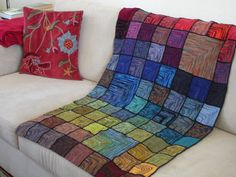 "Stained glass afghan, by ""The Bees"""