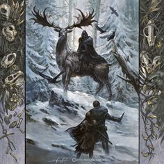 "nobodysuspectsthebutterfly: ""Coldhands, by Didier Graffet, for the 2017 ASOIAF Calendar """