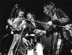 The Faces: Ron Wood, Ronnie Lane, and Rod Stewart 1972