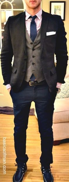 For my husband! -except loafers instead of whatever kind of shoes this guy has on