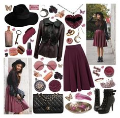 """""""I'm sick of dancing with the beast."""" by aquabatgirl ❤ liked on Polyvore featuring Closet, Ollio, By Malene Birger, ileava, Chanel, NARS Cosmetics, Illamasqua, OPI, Flamant and DK"""