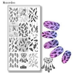 Birds Feather Theme Nail Art Stamp Template Image Plate Stencil Indian Dream Catcher Nail Art Stamp Stamping Makeup Manicure C50-in Nail Art Templates from Beauty & Health on Aliexpress.com | Alibaba Group Dream Catcher Nails, Feather Nails, Heart Nail Art, Nail Art Images, Art Template, Templates, Image Plate, Nail Plate