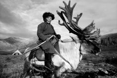 """Stunning Photos Of A Vanishing Mongolian Tribe, Known As The """"Reindeer Herders"""" Mongolia, Tribes Of The World, Maori Tribe, Indigenous Tribes, Guide Dog, The Incredibles, Black And White, Scenic Photography, Night Photography"""