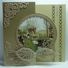 Anja Design: Green shades ... Marianne Design, Big Shot, Shades Of Green, Holiday Cards, Frame, Handmade, Crafts, Home Decor, Scrapbooking