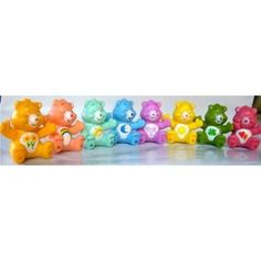 MINIATURE CARE BEARS ACTION FIGURE CAKE TOPPERS - ORIGINAL LARGER ONES