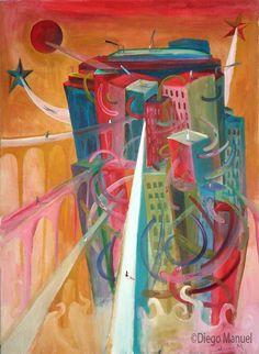 Ciudad, pinturas de Diego Manuel