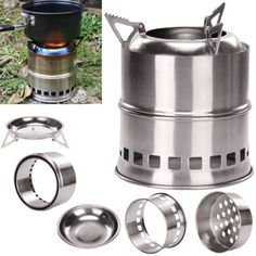 #Portable wood gas burning #backpacking camping #picnic party stove alcohol stove,  View more on the LINK: http://www.zeppy.io/product/gb/2/351795389839/