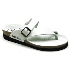 Helen-White Leather HELEN THONG SANDAL - 2880WHITE