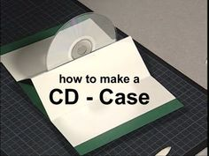 How to make a CD case -- great for a gift presentation (uses 2 cardstock 26.0 x 17.0 cm)