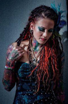 dreadlock styles Dreadlocks, Sisterlocks, Braids, and More :: Love Your Locs at DreadStop.Com +dreadstop Faux Dreads, Black Dreads, Colored Dreads, Beautiful Dreadlocks, Dreads Girl, Dreadlock Styles, Love Hair, Pretty Hair, Big Hair