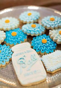 Having a Ball- Mason Jar Inspired 90th Birthday Celebration Cookies!