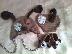Bebé set cubierta de pañal sombrero bebé recién por paintcrochet, $45.00