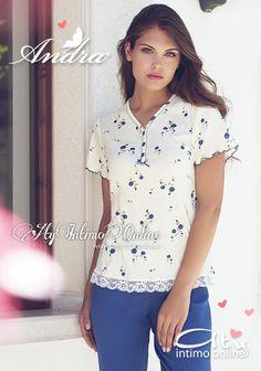 Pigiami donna con Andra Dreamwear.  Dinamici e curati in ogni dettaglio! I pigiami Donna Andra Dreamwear primavera/estate 2015 sono un equilibrio di forme espressi in maniera eccellente. #pigiami #moda #andradreamwear #madeinitaly Scopri la collezione! http://www.atyintimoonline.it/159-pigiami-donna-estivi