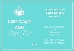 free hens party invitation templates - Google Search