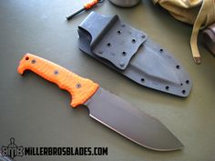 Miller Bros. Blades M-8. This model is available in Z-Wear PM, CPM 3V, CPM S35VN, Z-Tuff PM and 5160 steels Miller Bros. Blades Custom Handmade Knives, Swords & Tomahawks.