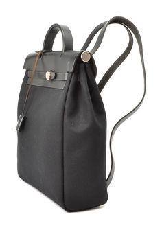 Vintage Hermes Herbag Sac a Dos (Stamp: Square D) Backpack - Black on HauteLook