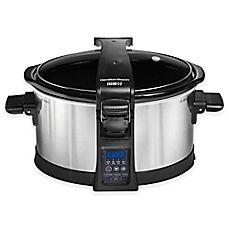 image of Hamilton Beach® Set & Forget® Programmable 6 qt. Slow Cooker with Clip-Tight Lid