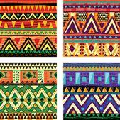 Nahtlose Stammes-Textur — Stockillustration
