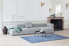 Mags, Tulou Coffee Table, Fifty-fifty Floor Lamp and Raw Rug Lounge Chair Design, Lounge Sofa, Sofa Design, Hay Design, Minimalist Sofa, Unique Sofas, Table Haute, Parasols, Modular Sofa