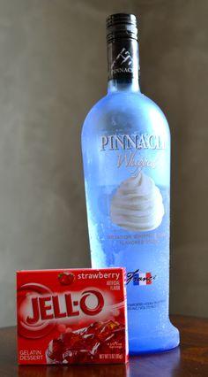 Strawberry and cream jello shots