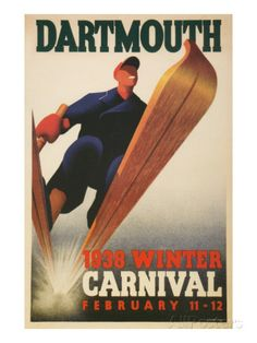 Skier, Dartmouth Winter Carnival Posters at AllPosters.com
