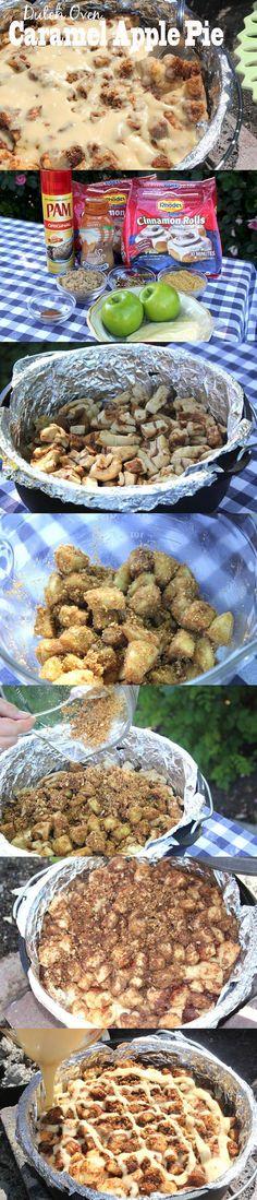 Dutch Oven Favorites: Caramel Apple Pie