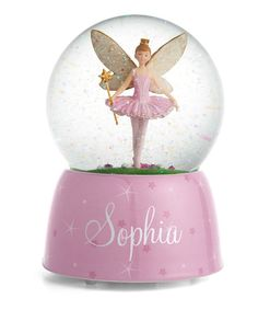 Look at this Personalized Ballerina Fairy Musical Water Globe on #zulily today!