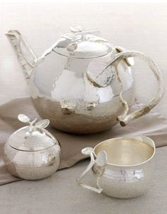 "This is a gorgeous addition to any home, and is a perfect gift for the holiday hostess. Michael Aram ""Botanical"" Tea Service."