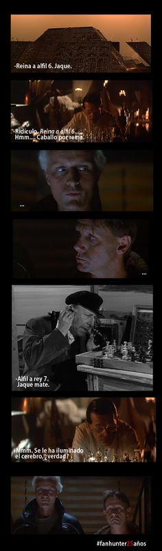 Fanhunter promo. Chess. Blade Runner + Calabuch mashup.