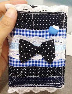 Porta celular com laço, de tecido. http://www.vivartesanato.com.br/2015/12/porta-celular-de-tecido.html