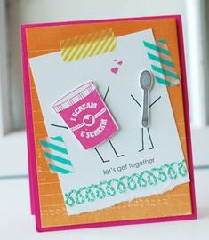 Let's Get Together Card by Betsy Veldman for Papertrey Ink (March 2013)