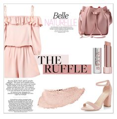 """""""Pink Ruffles"""" by phlowercrown ❤ liked on Polyvore featuring Barneys New York, Stila, Chanel, New Look and ruffles"""
