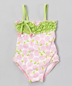 Look what I found on #zulily! Pink & Green Garden of Eden One-Piece - Infant & Toddler by Azul Swimwear #zulilyfinds