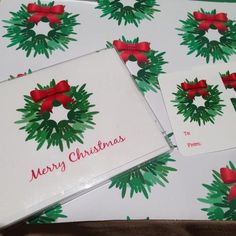 """Add a little love to your Holiday gift wrap paper this year. This ILY Wreath design has the ASL hand for """"I Love You"""" as the wreath. There are a bunch of green hands saying ILY to create the wreath. T"""