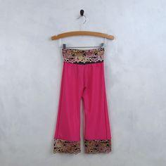 Girls Pink Lace Pants