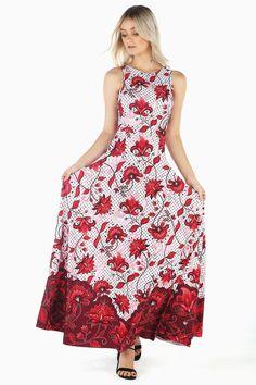 3c900c8016e December Blooms Red Princess Maxi Dress BM - Limited