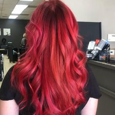 Red hair Red hair color Bright Red Hair Dye, Pink And Orange Hair, Vivid Hair Color, Dyed Red Hair, Bright Hair Colors, Hair Color Purple, Cool Hair Color, Vibrant Red Hair, Colorful Hair