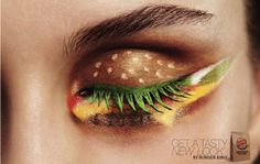 Not that I would ever wear anything like that, but thought it was neat how they did that.  Burger king eyes!