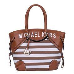 5a3c315399f5 Michael Kors Jet Set Striped Medium Brown Satchels Handbags Michael Kors, Michael  Kors Rose,
