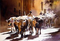 troupeau.jpg (Peinture),  60x80 cm par jean guy DAGNEAU