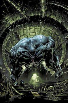 Venom by Mike Deodato Jr. Venom Comics, Marvel Venom, Marvel Comics Art, Marvel Comic Books, Comic Books Art, Comic Art, Book Art, Marvel Villains, Marvel Heroes