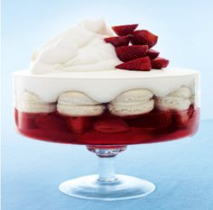 We just love this delicious Strawberry and macaroon trifle recipe by Donna Hay: http://www.waitrose.com/content/waitrose/en/home/recipes/recipe_directory/d/donna_hay_s_strawberryandmacaroontrifle.html