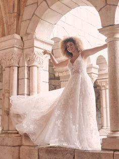 Bridal Boutique, A Boutique, Bridal Closet, Blush Gown, Maggie Sottero Wedding Dresses, A Line Gown, Boho Wedding Dress, Lace Wedding, Bridal Style